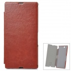 KALAIDENG XL39H Protective PU Leather Case for Sony Xperia Z Ultra - Brown