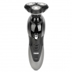 CHAOBO RSCX-9600 Rechargeable 3-Head Electric Rotary Shaver Razor - Black + Iron Grey