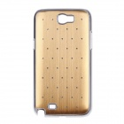 Rhombus Twill Style Protective Plastic Back Case for Samsung Galaxy S4 i9500 - Golden + Silver