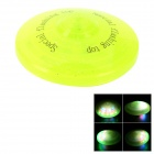 Flying Saucer Style Spinning Top w/ Music / Flashlight Light - Fluorescent Green (3 x AA)
