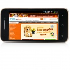 "Bedove X 12 MTK6577 tokjerners Android 4.0.9 WCDMA telefonen med 4.0"", Wi-Fi, FM, GPS - Black + Golden"
