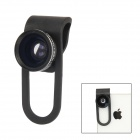 CP-65 Clip-on Style Wide + Macro Detachable Lens for Mobile Phone / Tablet PC - Black
