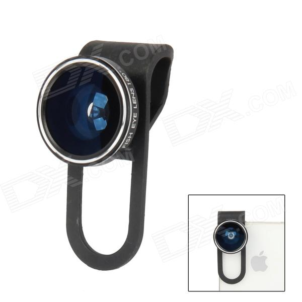 CP-12 180 Detachable Degree Fish-Eye Lens for Mobile Phone / Tablet PC - Black universal 2 in 1 0 65x wide angle macro lens glass filter for cellphone tablet pc black
