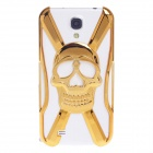 Skull Style Protective Electroplating Plastic Case for Samsung Galaxy S4 / i9500 - Golden