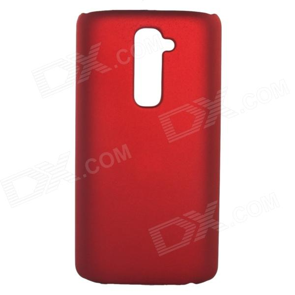Fashionable Super Thin Protective Glaze PC Back Case for LG G2 - Wine Red