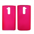 Fashionable Super Thin Protective Glaze PC Back Case for LG G2 - Deep Pink
