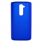 Fashionable Super Thin Protective Glaze PC Back Case for LG G2 - Blue