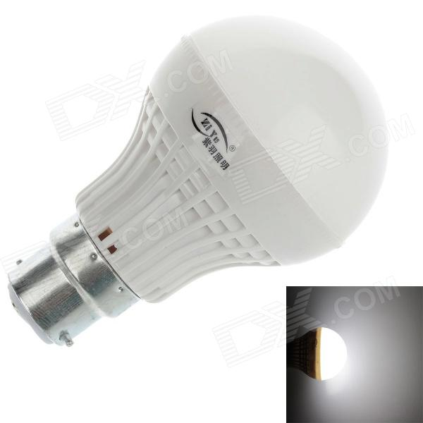 ZIYU ZY-QP-056 B22 5W 350lm 6500K 16 x SMD 2835 LED White Light Lamp Bulb - White + Silver (220V)