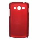 Fashionable Super Thin Protective Glaze PC Back Case for Samsung S7270 / S7272 - Wine Red