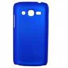 Fashionable Super Thin Protective Glaze PC Back Case for Samsung S7270 / S7272 - Blue