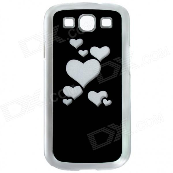 CAPF DH-X1 Stylish Heart Pattern Plastic Back Case w/ LED Signal Light for Samsung i9300 (1 x CR201) beko wmy 91443 lb1
