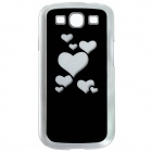 CAPF DH-X1 Stylish Heart Pattern Plastic Back Case w/ LED Signal Light for Samsung i9300 (1 x CR201)
