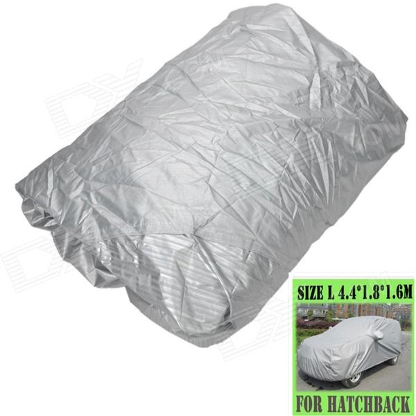 AYA DY008 Protective Water Resistant Dust-Proof Hatchback Car Nylon Cover - Silver (Size L)