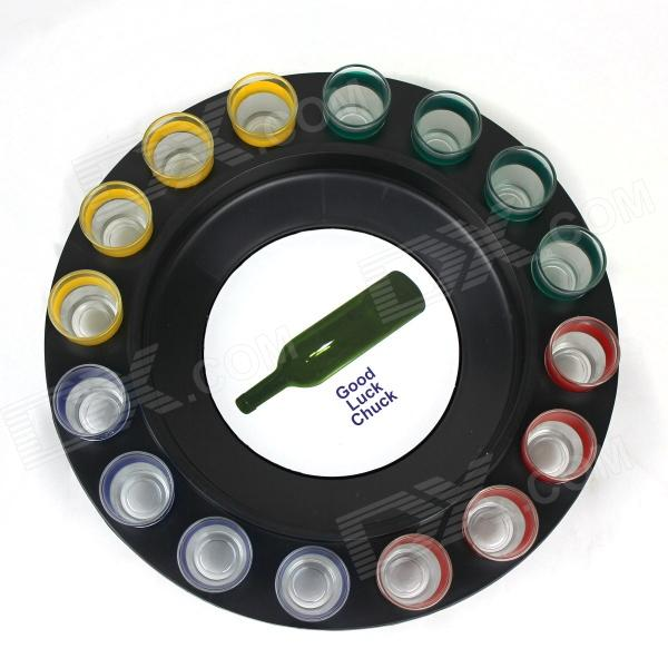 Lucky Shot Drinking Roulette Game - Multicolored (16 Cups)