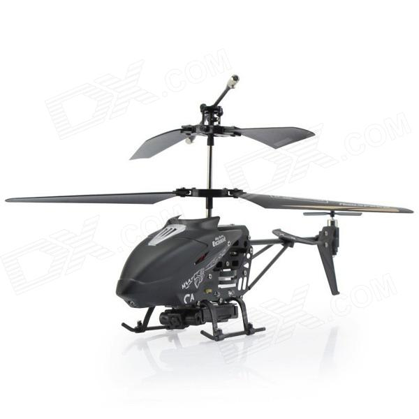 LiHuang L1101D 3.5-CH R/C Helicopter with Gyro & Camera - Black (Small)