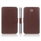 ENKAY ENK-7030 Protective PU Leather Case for Samsung Galaxy Tab 3 7.0 T2100 / T2110 / P3200 - Brown