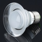 E27 3W Mushroom Style 1-Epileds RGB LED Light Bulb w/ 24-Key Remote Controller - Silver (85~265V)