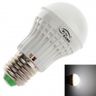 ZIYU ZY-QP-052 E27 3W 200LM 6500K 9-SMD 3528 White Light LED Bulb - White + Silver (220V)
