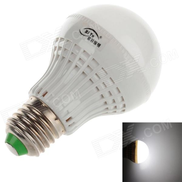 ZIYU ZY-QP-058 E27 5W 350lm 6500K 16-SMD 3528 White Light LED Bulb - White + Silver (220V)