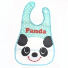 Cute Panda Pattern Waterproof Bib - White + Black + Blue