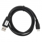 USB Male to Micro USB Male Data Sync & Charging Cable - Black (100cm)