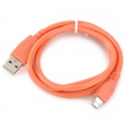 Universal Micro USB Male to USB Male Charging Data Cable for Samsung + HTC - Orange (100 CM)