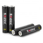 Soshine 3.7V 350mAh 10440 Li-ion Batteries w/ Case (4 PCS)