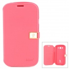 HELLO DEERE Protective PU Leather Case for Samsung i9082 - Deep Pink