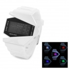 SYNOKE Men's Fashionable Warcraft Dial Water Resistant LED Digital Wrist Watch - White (1 x LR1130)