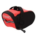 ROSWHEEL Bike Bicycle Saddle Bag - Red + Black