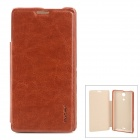 PUDINI WBM36hR Stylish Flip-Open PU Leather + PC Case for Sony Xperia ZR M36H - Brown