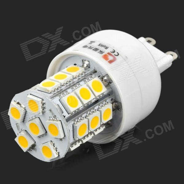 купить Lexing LX-YMD-047 G9 3W 220lm 3500K 27-5050 SMD LED Warm White Light Bulb - White + Yellow недорого