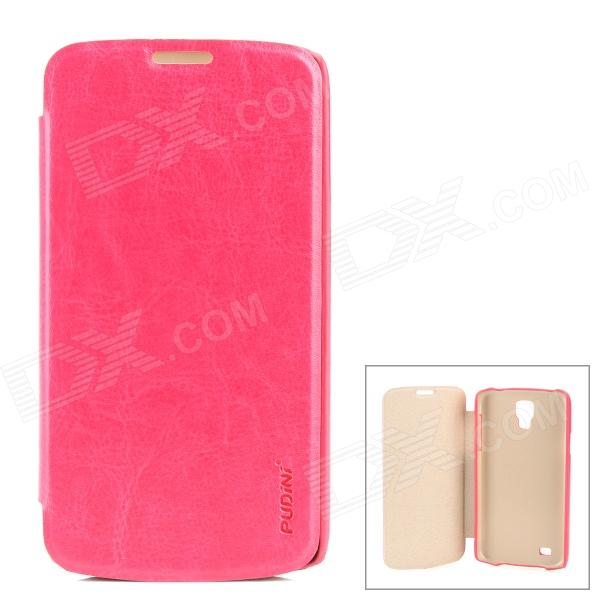 PUDINI WB-i9295R Protective PU Leather + PC Case for Samsung Galaxy S4 Active i9295 - Deep Pink for nokia lumia 830 lcd display touch screen digitizer assembly with bezel frame replacement parts free shipping with tools