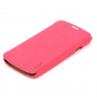 PUDINI WB-i9295R Protective PU Leather + PC Case for Samsung Galaxy S4 Active i9295 - Deep Pink