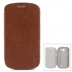 PUDINI WB-i8730R Protective PU Leather + PC Case for Samsung Galaxy Express i8730 - Brown