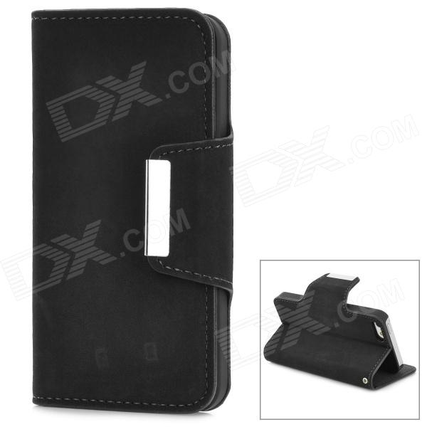 Stylish Flip-open PU Leather Case w/ Holder for Iphone 5 - Black смартфон highscreen easy xl pro gold