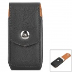 Lychee Grain Style Protective Flip-Open PU Leather Case w/ Belt Clip for Iphone 5C / 5s / 5 - Black
