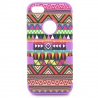 Stylish 3-in-1 Tribe Patterned Protective Silicone + Plastic Case for Iphone 5 - Multicolored