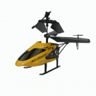 Frestech Yi W8005 3.5-CH IR Remote Control Aluminum Alloy R/C Helicopter - Yellow