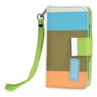 KALAIDENG Protective PU Leather Flip-Open Case w/ Strap for Iphone 4 / 4S - Multicolored