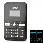 "AIEX MINI-V9 GSM Card Phone w/ 1.0"" Screen, Quad-band, Bluetooth and FM - Black"