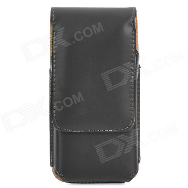 Protective Flip-Open PU Leather Case w/ Belt Clip for Iphone 5C / 5s / 5 - Black horizontal belt clip pu leather holster pouch case for iphone 5 5s 5c