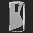 Protective TPU Back Case for LG Optimus G2 - Translucent White