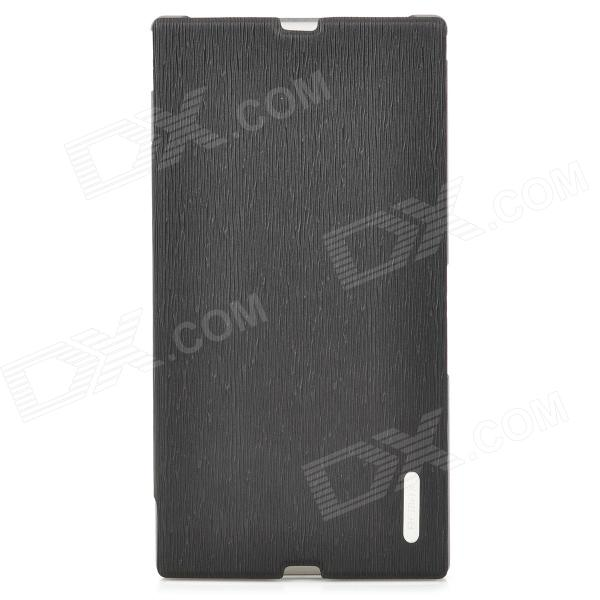 REMAX Protective PU Leather Case for Sony XL39h - Black