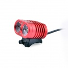YINDING YD-2XU2 1200lm 4-Mode White Bicycle Light / Headlamp w/ 2 x CREE XM-L U2 - Red (4 x 18650)