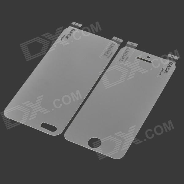 Protective PET Matte Front Screen + Back Guard Films Set for Iphone 5S