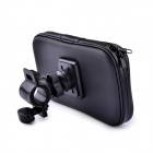 Bicycle Waterproof Bag for Samsung Galaxy Mega 6.3 / i9200 - Black + Transparent