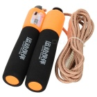 Exercise Skipping Jumping Rope with Counter - Black + Orange + Golden