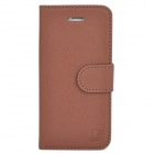KALUSHI Basketball Skin Pattern Flip-open Leather Case w/ Card Slot for Iphone 5 - Brown