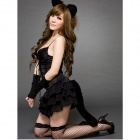 Cat style Halloween Costumes Skirt - Black (Free Size)